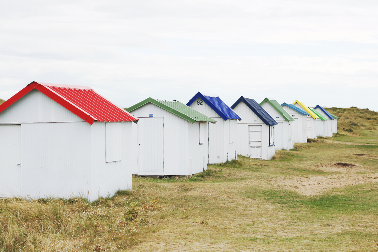 Normandie : Cabanes et prés salés.